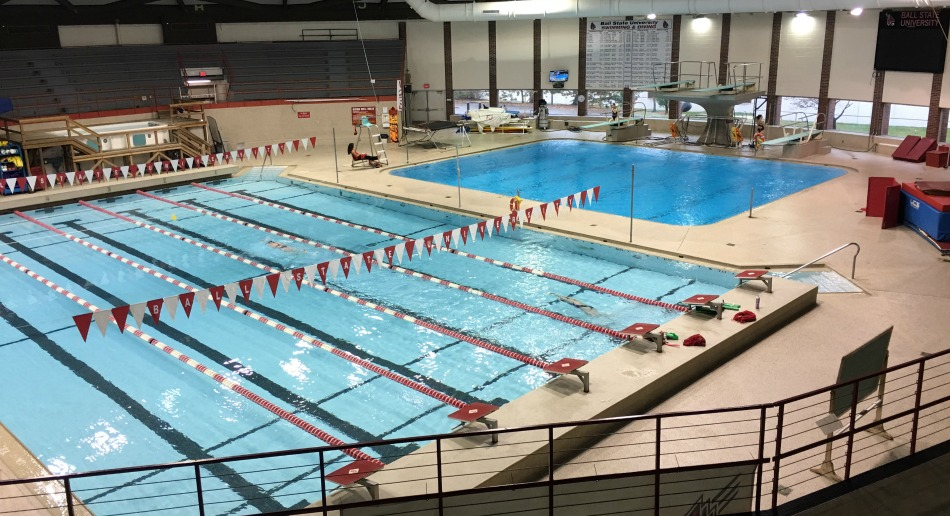 Nike swim camp at ball state university University of wisconsin swimming pool