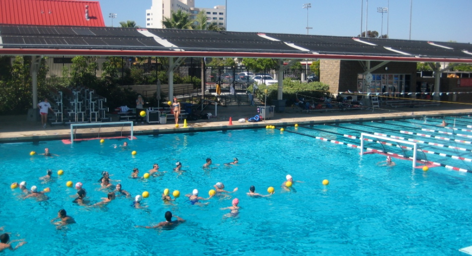 Nike 5meter water polo camp at san diego state university for San diego state university swimming pool