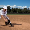 Show the inside of your glove to the ground ball!