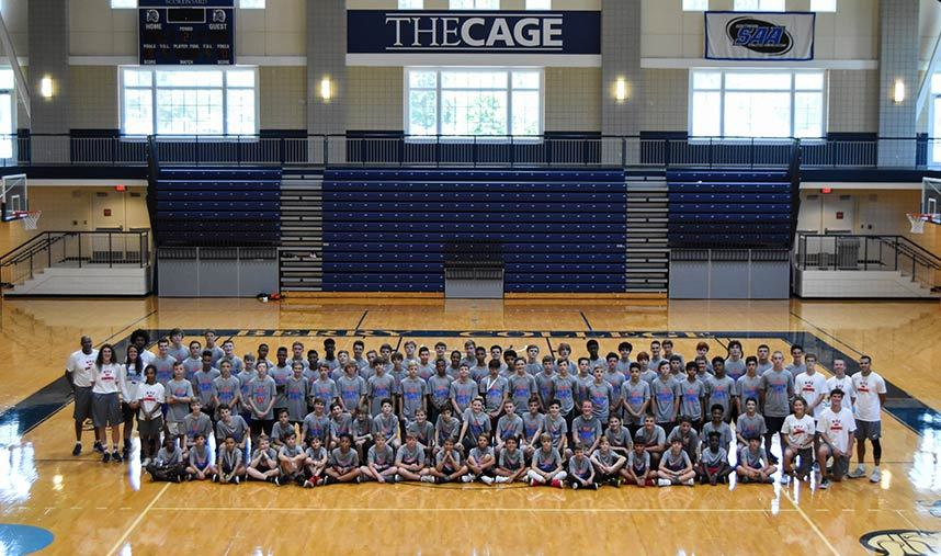 ab17b1e348f at Nike Basketball Camps. Berry College Group Photo 2019 ...