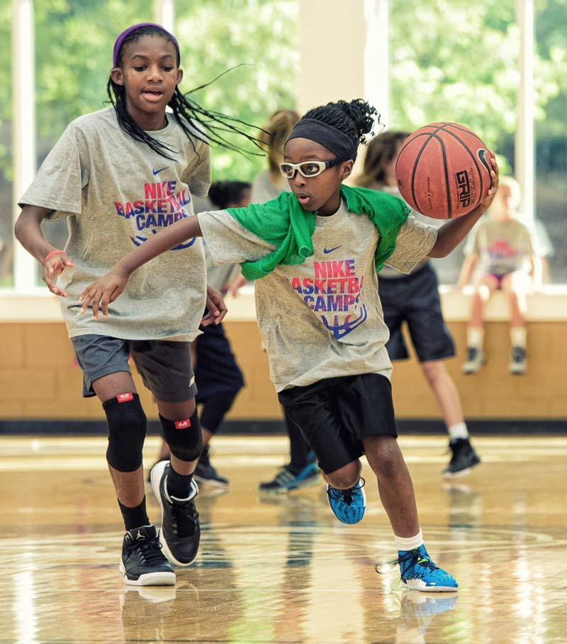 a66ec1ff3c1 at Nike Basketball Camps. Berry Cage Center Girls Group Girls Sprint Girls  Fast Break ...