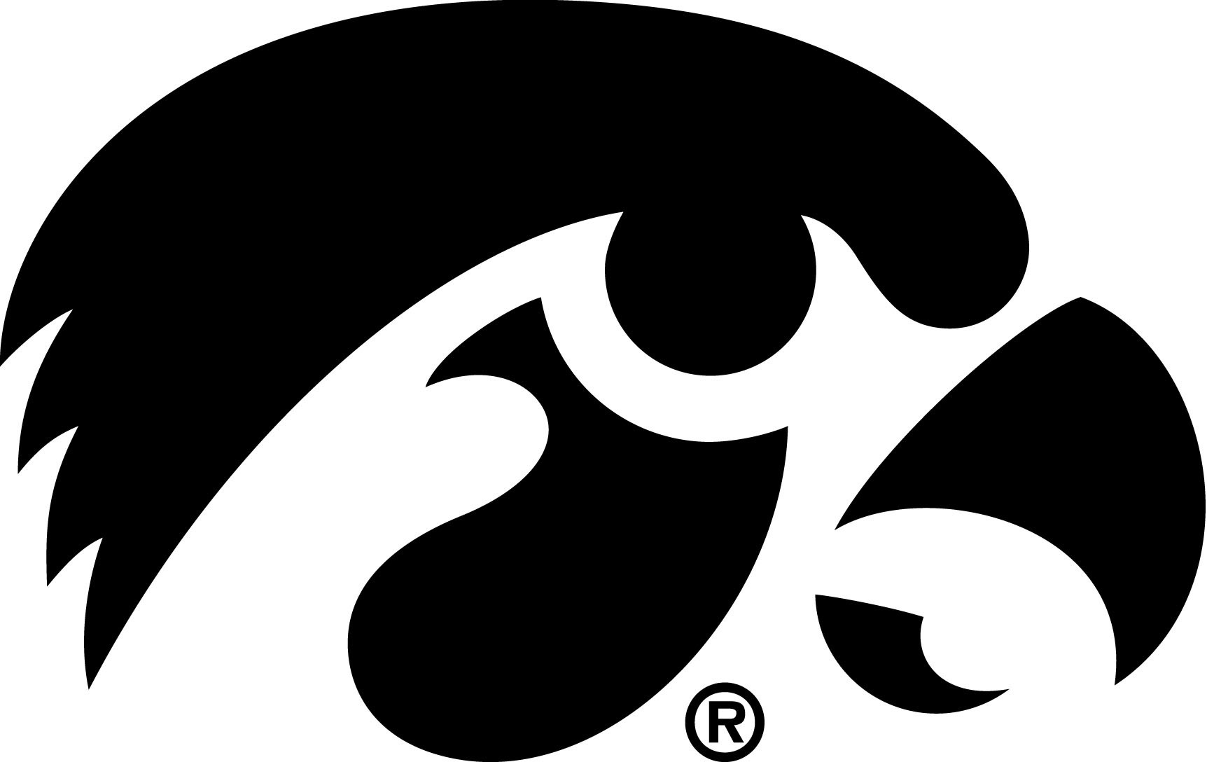 Iowa Tigerhawk Black Logo