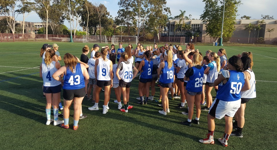 Santa Barbara Nike Lacrosse Camp Girls Field