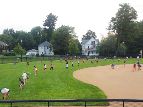 Nike Softball Camp Amherst Group Drill