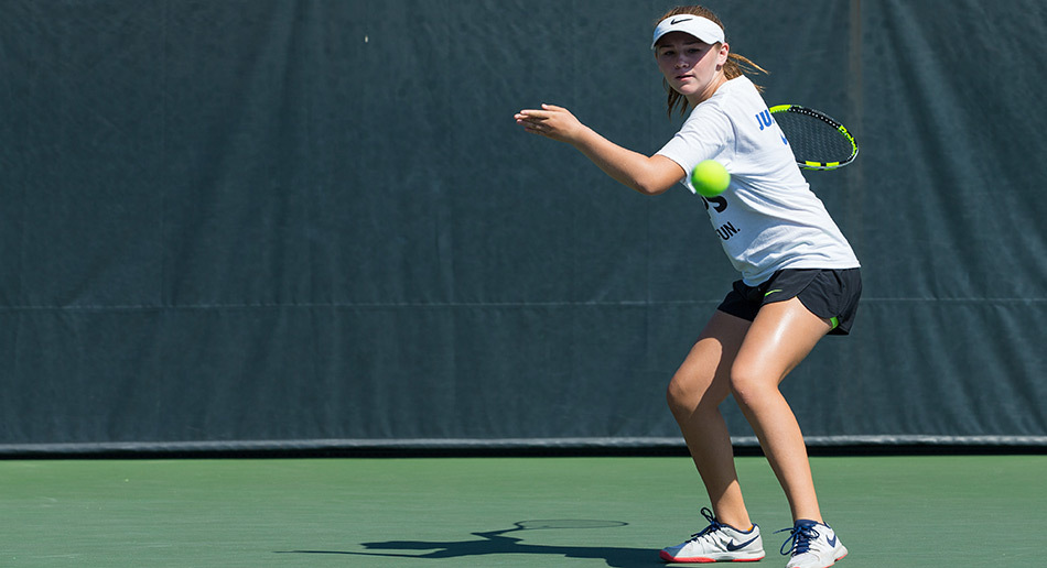 reputable site ea275 bd5f6 ... Stanford Tennis Camp Girl Forehand ...