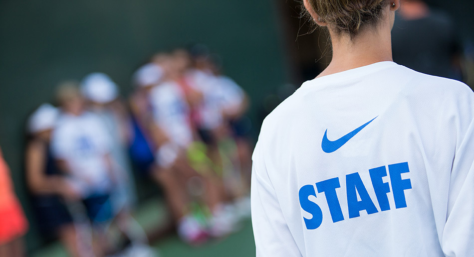 new concept 5ace3 b94d8 ... Stanford Tennis Camp Lele Forood Staff Shirt ...