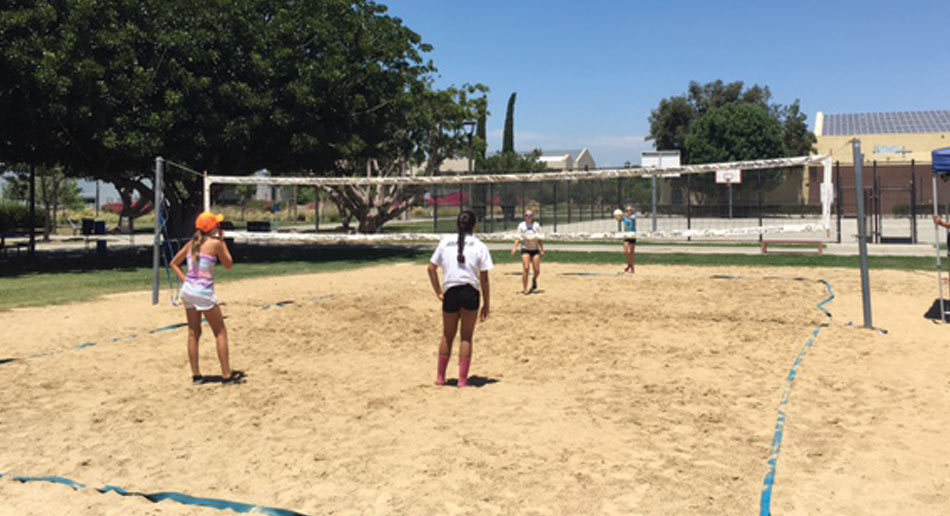 Nike Beach Volleyball Camps Scrimmage