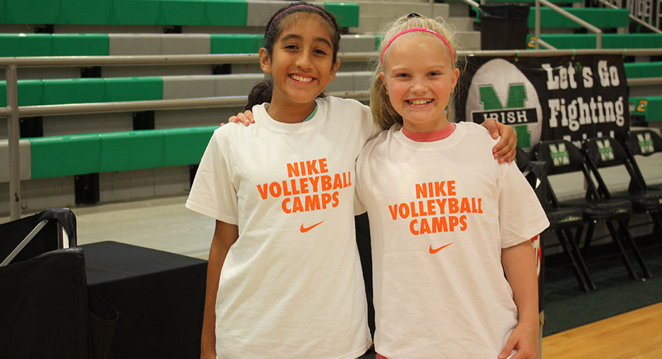 df26083055 at Nike Volleyball Camps. Endicott College Outside Practice Gallery Happy  Campers ...