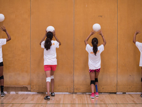 Volleyball Drill Against Wall