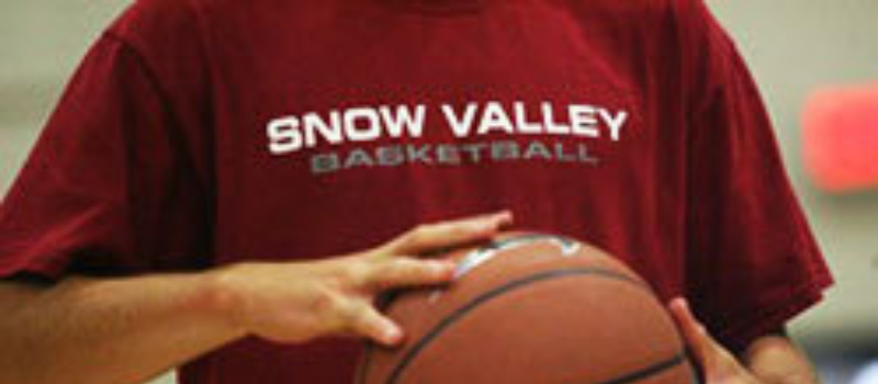 Snow Valley Basketball Camp Logo